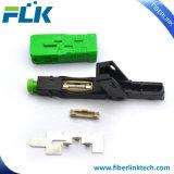 Sc/APC/UPC rápida del conector de fibra óptica FTTH/Red.