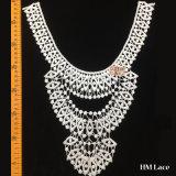 斑点を付けられたパターンが付いているElegant Bridal Lace Trim 30*37cmの女性ファブリックは3つの層の衣服のアクセサリカラーレースHml8512を編んだ