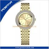 Diamant-Anzeigetafel-Schweizer Quarz-Neuheit-haltbare Edelstahl-Armbanduhr