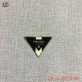 Prendas personalizadas de transferencia de calor de metal reflectante en la etiqueta de hierro de goma para la ropa