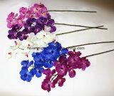 Orquídea de mariposa artificial de la orquídea de polilla de la flor de seda de 9 pistas para la decoración del festival de la boda del hogar de la nueva casa