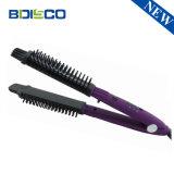 La máxima calidad de la moda coreana 2 en 1 plancha de cabello Cepillo Rizador/Herramienta de Extensión de Cabello