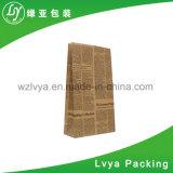 Reciclagem profissional o logotipo personalizado impresso em papel kraft mercearia saco de alimentos