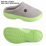 Fabric Upper Knitting machine Warm Home Slipper EVA Anti-Slipway Plate Indoor Hotel Slipper Shoe for Winter