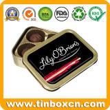 Kundenspezifisches rechteckiges Metallschokoladen-Zinn für Verpacken- der Lebensmittelkasten