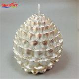 Grande candela gigante d'argento del regalo dell'ananas per la decorazione di natale