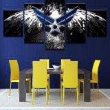 화포 HD는 포스터 벽 예술 깃발 그림 기구를 거실 홈 장식을%s 5개 피스 공군 독수리 요약 색칠 인쇄한다