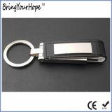 Porta-chaves USB de memória de couro (XH-USB-034)