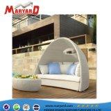 Un design moderne salon de jardin Meubles en rotin populaire ronde en osier lit de repos