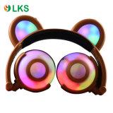 OEMクリスマスのための有料Foldable LED点滅くまの耳のヘッドホーン