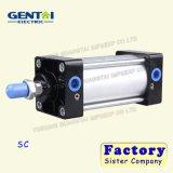 Алюминиевый двойник серии Sc/Su/одиночный действующий пневматический цилиндр воздуха