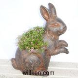 新しいデザイン牧歌的な動物のウサギの形の植木鉢のマイクロの景色