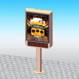 Panneau-réclame extérieur de défilement annonçant le dispositif d'affichage