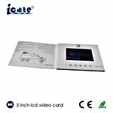 Fabrik-Preis! Qualitäts-Zoll 5 Zoll LCD-videobroschüre-Karte für Geschäfts-förderndes Geschenk