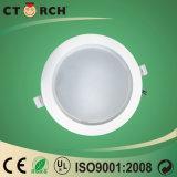 La cubierta plástica de aluminio 12W del nuevo diseño de Ctorch refresca LED ahuecado blanco Downlight