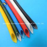 El envolver trenzado de la fibra de vidrio cubierto con caucho de silicón