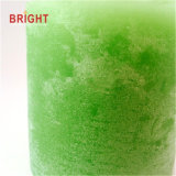 Smetaの緑の無作法なタケ芳香の柱の蝋燭