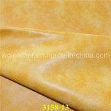 Gutes Farbechtheit synthetisches Nubuck PU-überzogenes Leder