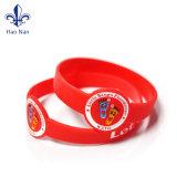 Bracelets faits sur commande en caoutchouc de silicones de Debossde de cadeaux promotionnels
