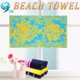 印刷されたハワイの花のビーチタオル