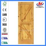 Puerta de madera Pocket manchada industrial