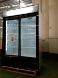 Refrigeratore della visualizzazione del doppio portello di stile del tipo e di Singolo-Temperatura del dispositivo di raffreddamento della visualizzazione