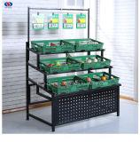 Freie stehende Frucht-Gemüse-Bildschirmanzeige-Zahnstange für Speicher