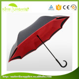 Paraplu van het Handvat van de C van de Laag van het Bewijs van de wind de Dubbele Omgekeerde