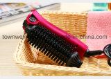Pelo plegable de la enderezadora del bigudí del cepillo Heated que labra las herramientas