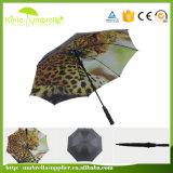 Rippen-Golf-Regenschirm des doppelte Schicht-kundenspezifische Qualitäts-voller Digital-Drucken-30inch 8
