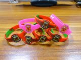 Bracelets personnalisés promotionnels de silicones de Pringted de logo d'extension de message pour des événements