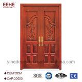 Las puertas dobles de madera maciza fabricante chino