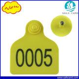 Markering van het Oor van de douane de Gele voor Geit/Schapen/Vee/Konijn