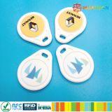 13.56MHz llavero RFID de impresión láser ABS sin contacto MIFARE Classic 1K llavero