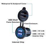 Chargeur USB étanche à double socket adaptateur de charge rapide de sortie d'alimentation 5V 4.2A [2.1a et 2.1a] pour Voiture Bateau moto marine mobile