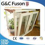 Cor de madeira revestida Windows de alumínio do pó com rede de mosquito do aço inoxidável