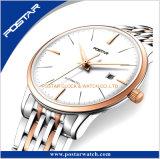 Fabrik zur Verfügung gestellte doppelte gewölbte Paar-Schweizer Qualitätsautomatische eindeutige Paar-Armbanduhr