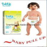 使い捨て可能な赤ん坊の引きのズボンを熱販売して、工場直接販売法の赤ん坊の引きによってはおむつ、赤ん坊のズボンが喘ぐ