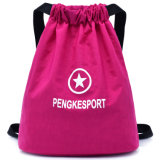昇進のScrrenの印刷ポリエステルドローストリングのバックパック袋