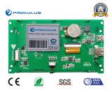 Intense luminosité, TFT LCD de 5 '' 480*272 Uart avec le contact Screen+RS232 de Rtp/P-Cap