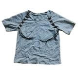 Vêtement utilisé par couleur utilisé de T-shirt de dames sous peu pour la vente en gros