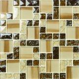 مزيج زجاجيّة فسيفساء خزفيّة بلّوريّة مع تصميم فسيفساء