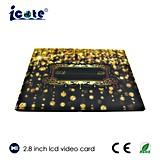 """Zoll 2.8 """" LCD-videogruß-Karten-Einladungs-Musik-Geschenk-Karte"""