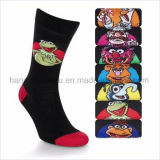 Schwarze flippige Karikatur-Entwurfs-Kind-Mannschafts-Kleid-Socke