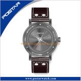 Het speciale Horloge van de Wijzerplaat Roating met de Echte Riem van het Leer voor Mensen