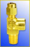 La válvula del cilindro de gas