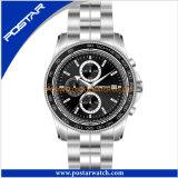 La meilleure montre de chronographe de mode pour les hommes avec la qualité imperméable à l'eau