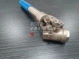 Углеродистая сталь Wcb полного порт Borethread 2PC шаровой клапан
