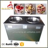 アイスクリームロールを作るための揚げられていた氷鍋機械