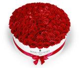 Cadre de papier de empaquetage rond de fleur faite sur commande de cadeau de luxe d'impression